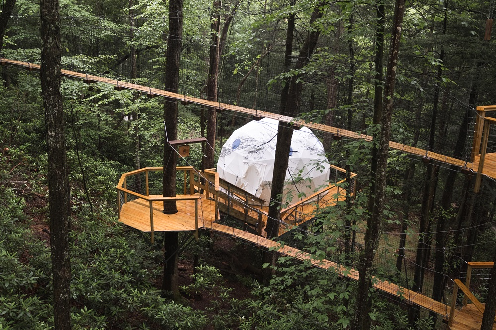 Canopy Dome Town | Weird Homes Tour