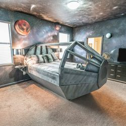 A bedroom in this Star Wars Themed House